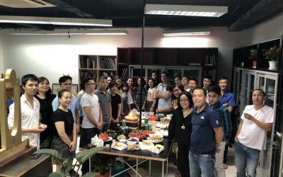 Tập thể Sdesign mừng sinh nhật CBNV quý II năm 2019